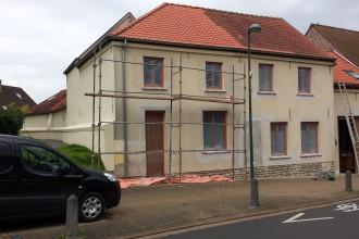 bepleistering of cementage van alleenstaande woning